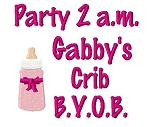 Party Girl Burp Cloth