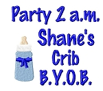 Party Boy Burp Cloth