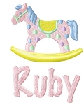 Rocking Horse Burp Cloth