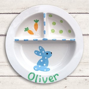 personalized ceramic plate - bunny