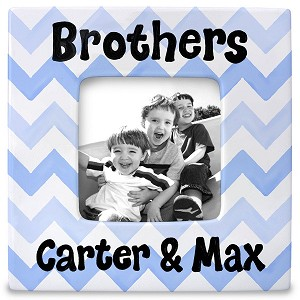 personalized ceramic frame - brothers