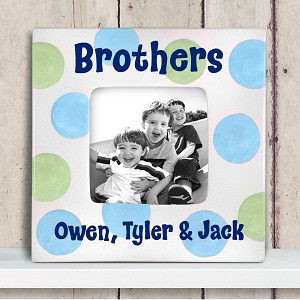 personalized ceramic picture frame - brothers