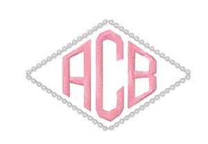 burp cloth - diamond monogram