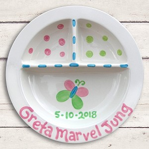 personalized ceramic plate - butterfly