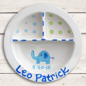 personalized ceramic plate - elephant