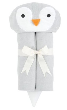 hooded towel - penguin