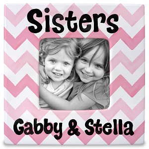 personalized ceramic frame - sisters