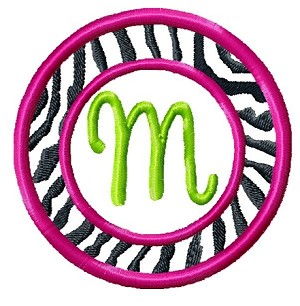 burp cloth - zebra print monogram